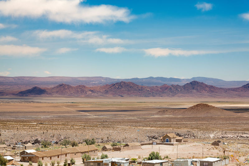 A small village named cupo in the middle of atacama desert in northern chile.