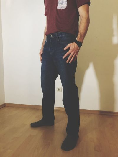 Jeans EyeEm Selects Standing One Person Indoors  Real People Casual Clothing Lifestyles Jeans Low Section