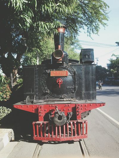 he looks mighty fine // Train Steam Train Sightseeing INDONESIA