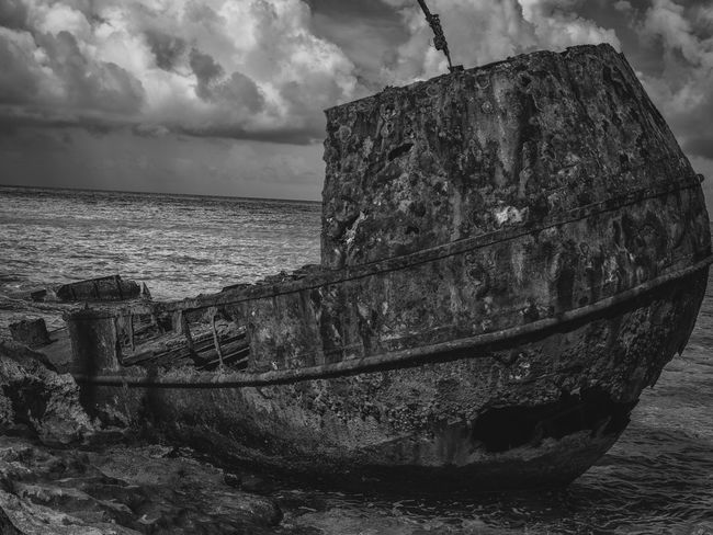 Shipwrecked Medium Format Bahamas Caribbean Shipwreck Sea Water Abandoned Horizon Over Water Sky Obsolete Damaged Nautical Vessel Weathered Run-down Nature No People Rusty Cloud - Sky Beauty In Nature Day Scenics Outdoors