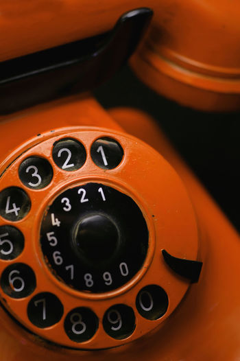 Old retro phone Antique Orange Bakelite Close-up Communication Dial Dial Phone High Angle View No People Number Old-fashioned Orange Color Phone PhonePhotography Retro Photography Retro Styled Rotary Phone Technology Telecommunications Equipment Telephone Vintage