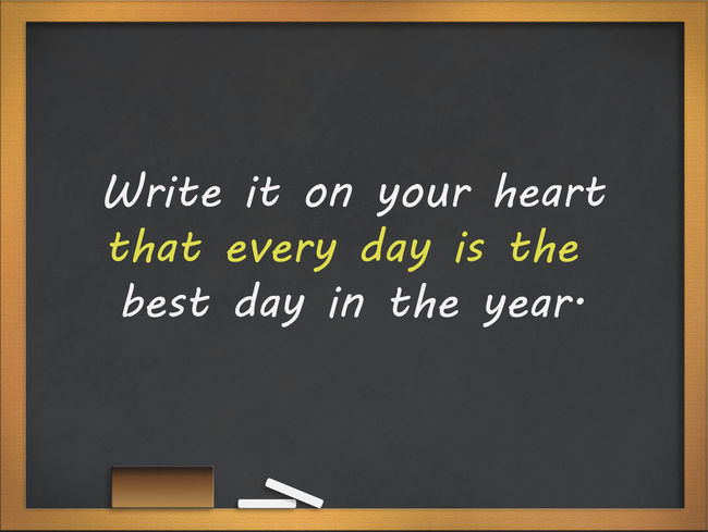 Inspiration Motivation Quote for live today. Architecture Black Background Blackboard  Board Chalk - Art Equipment Classroom Communication Education Information Information Sign Learning Message No People Non-western Script Positive Emotion Positive Thinking Positive Thoughts Quote For Everyday Quote Of The Day  School Script Sign Text