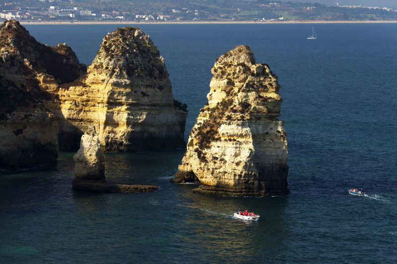 Headlands at calm blue sea