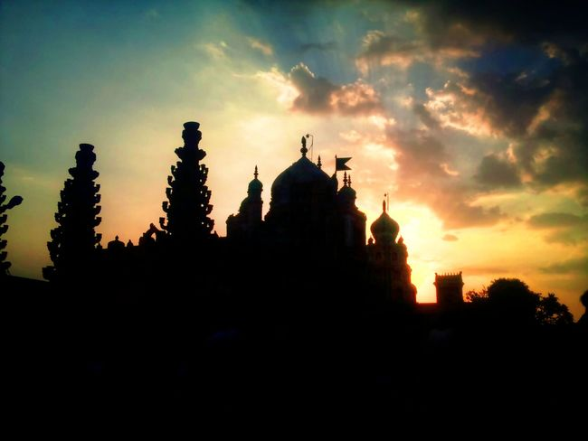 Ancient Structure Architecture Building Exterior Built Structure Cathedral Church Cloud Cloud - Sky Famous Place History Khandoba Temple Mahadev Temple Place Of Worship Religion Silhouette Sky Spirituality Sunset Temple Travel Travel Destinations Tree 43 Golden Moments HUAWEI Photo Award: After Dark