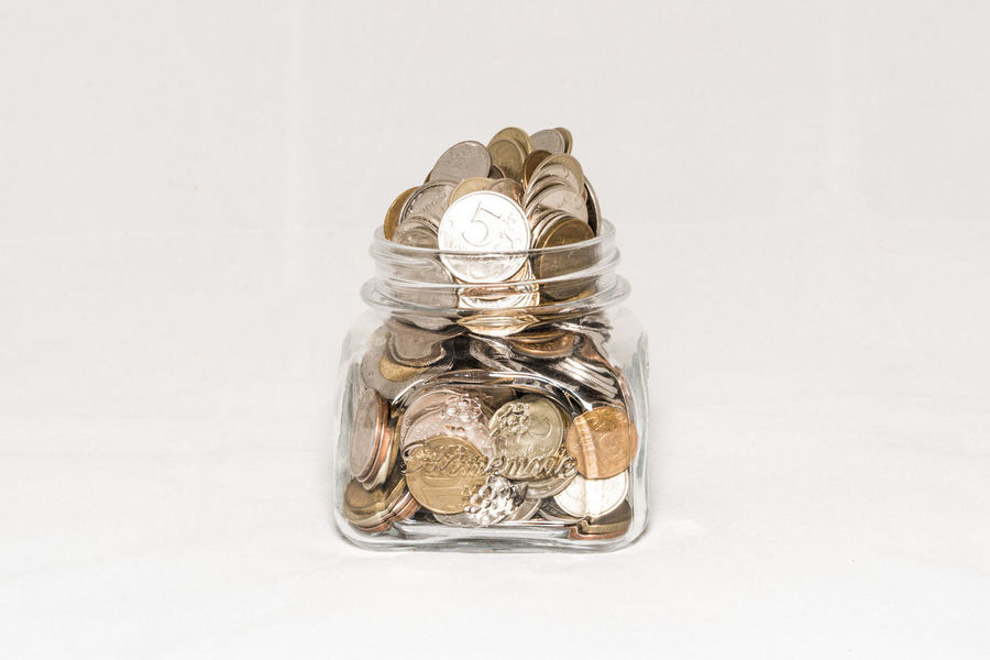 Close-up Day Finance No People Savings Still Life Studio Shot Wealth White Background