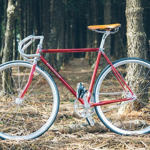 Sculptor Chrome Red Fixedgear Fixed Gear Cyclist Njs OpenEdit Bikes