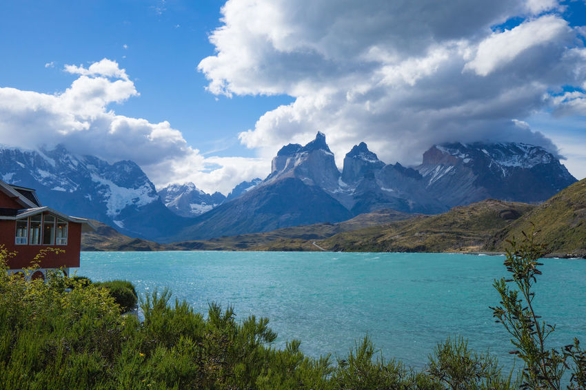 Hiking National Park Argentina Beauty In Nature Cloud - Sky Day Environment Landscape Mountain Mountain Peak Mountain Range Nature No People Outdoors Patagonia Plant Range Scenery Scenics - Nature Sky Tranquil Scene Tranquility Travel Water Wilderness