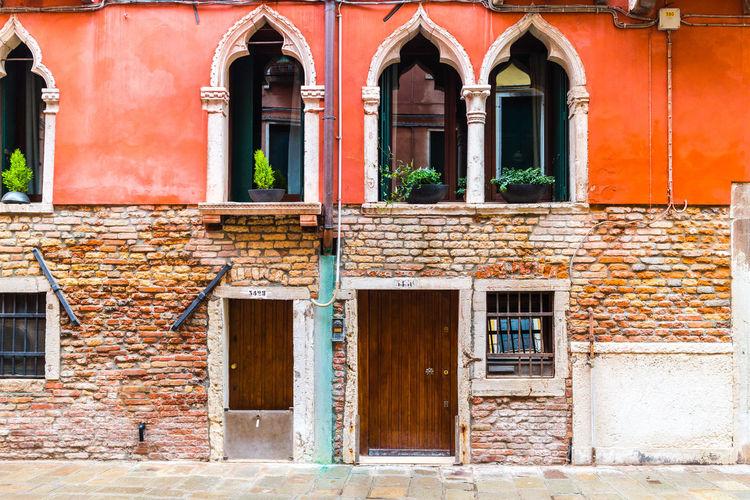 Full frame shot of venetian facade