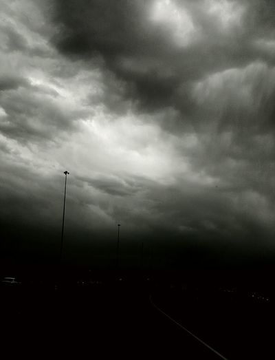Taken On Mobile Device Mein Automoment Taken By M. Leith Storm Darkness In The Car Traffic Tail Lights Driving