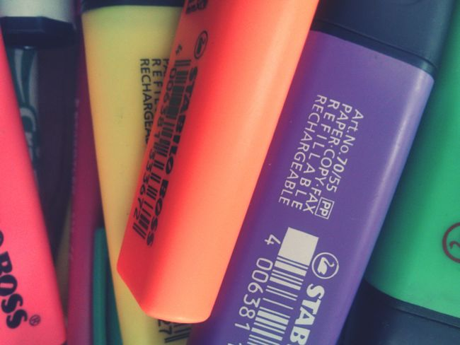 Indoors  Business Finance And Industry Travel Close-up No People Day EyeEmNewHere High Angle View EyeEm Ready   Artsy Arts & Crafts Arts And Crafts Arts Culture And Entertainment Highlighters Highlighter Markers  Markersfordays Study Hard Study Study Time Colors Creative