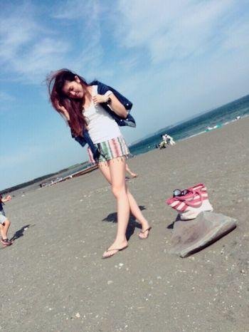Day off. Beach Good Relaxing Enjoying Life Ootd Beach Life Love Surfgirl Girl Me Summer Beachgirl Enjoy Sky Ocean Sea Sea And Sky 茅ヶ崎 湘南