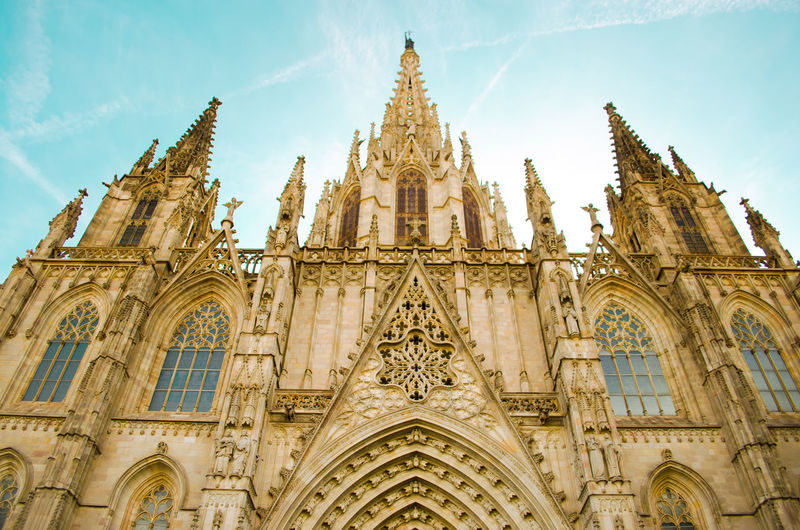 Arch Architecture Barcelona Building Exterior Built Structure Catalonia Catalunya Cathedral Church Exterior Façade Famous Place Gothic Gothic Architecture Gothic Beauty  Gothic Church History Ornate Place Of Worship Religion SPAIN Spirituality Tourism Travel