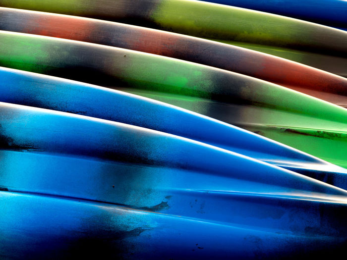 Kayak on the beach Michigan Abstract Backgrounds Beach Beachphotography Blue Boats Design Detail Green Color Kayak Multi Colored No People Pattern Repetition Textured