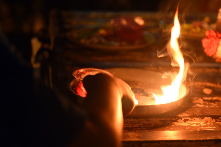 Ritual Ritual Fire Darkness And Light Lihht In The Distant Light And Shadow Glowing