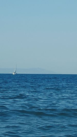 Hello World Relaxing Enjoying Life Great Atmosphere Sea And Sky Sea_collection Sea Boat