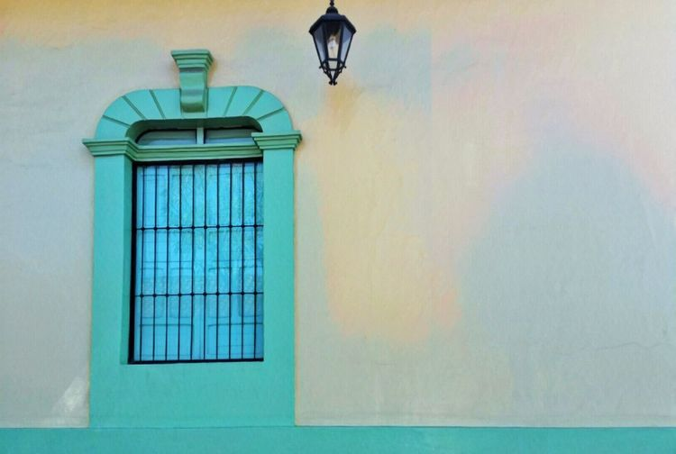 Wall - Building Feature Built Structure Architecture Green Color Low Angle View Building Exterior No People Architecture Nicaragua Street Photography The City Light Fresh On Eyeem  InsideoutBuilding Silhouette Tranquility
