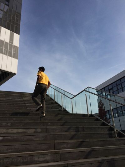 Staircase Steps Steps And Staircases Sky Campus Student Paint The Town Yellow Yellow