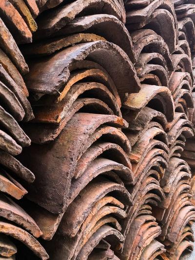 Full Frame Shot Of Stacked Wood