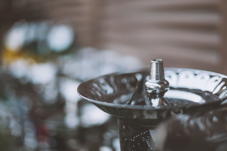Close-Up Of Hookah On Table For Sale