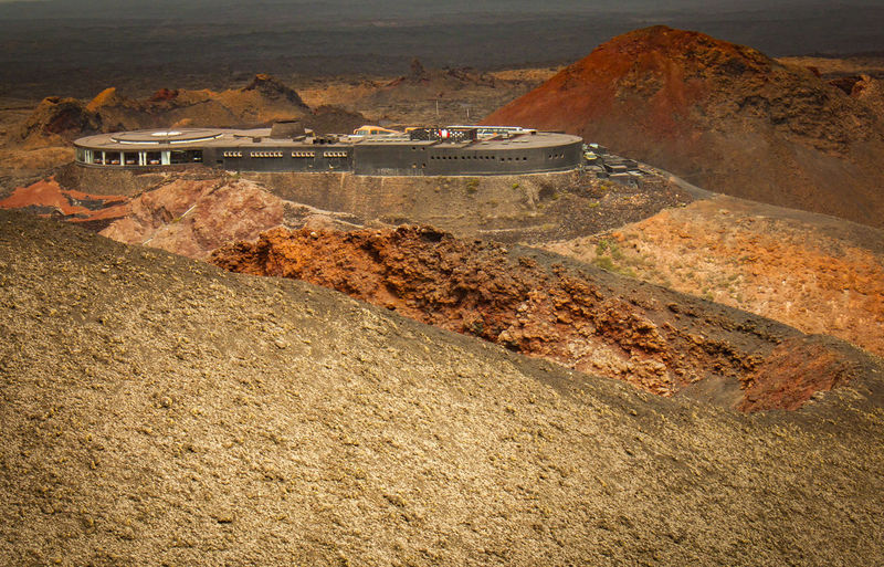 Architecture Ground Colors Lanzarote-Canarias Nature Timanfaya National Park Geological Landscape Landscape Volcanic Island