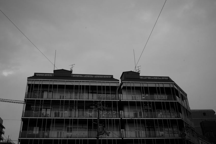 Karaoke Building Karaoke Building Buildings & Sky Buildings Bw Blackandwhite Monochrome Leica M9-p Color-skopar 21mm F4 Voigtlander Lens Street Snap Business Finance And Industry Accidents And Disasters Danger Abandoned Sky