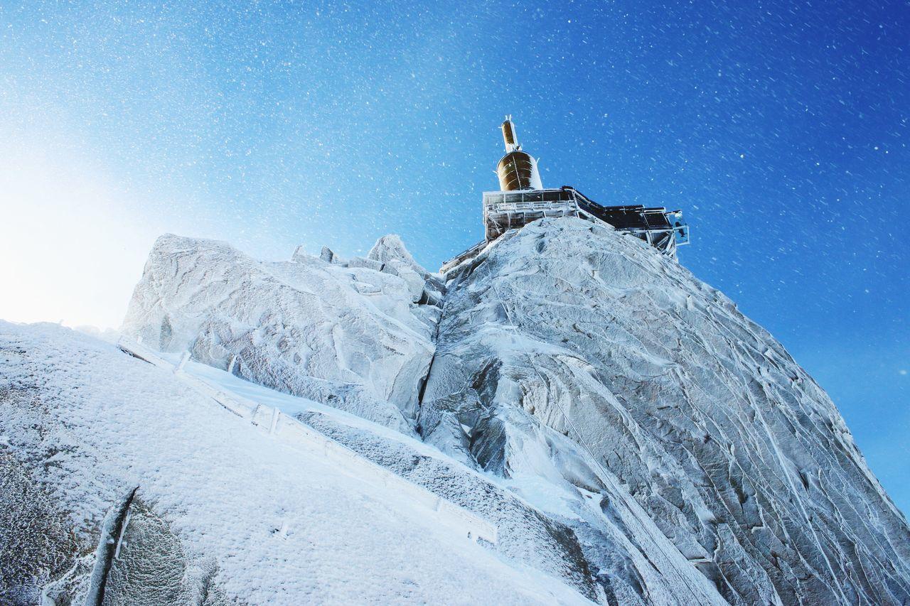 Aiguille Du Midi, Beauty In Nature, Blue, Cold Temperature, Day