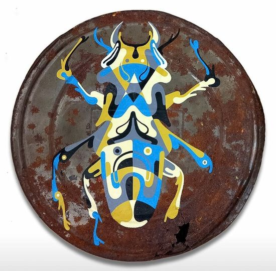 Squashed Colours Of A Stag Beetle Photographic Approximation Streetart/graffiti Art By Reka One