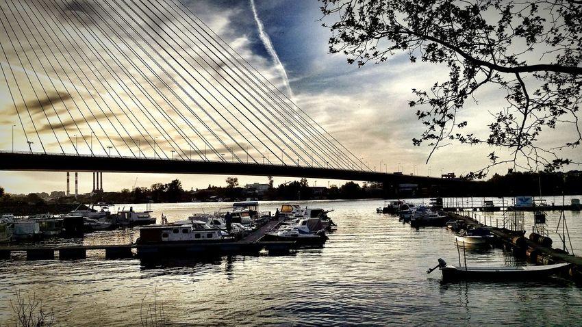 Bridge Sava River Nature_collection Sunset_collection