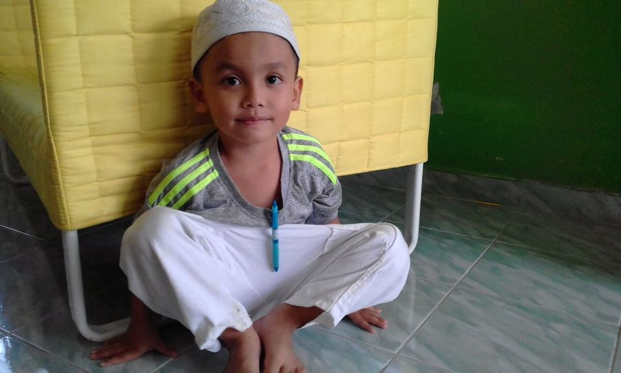 EyeEm Selects One Person Portrait People Looking At Camera Child Front View Lifestyles Real People Childhood Smiling Indoors  Day Close-up Love ♥ Son Muslim❤️ Muslimandproud Kedah Malaysia