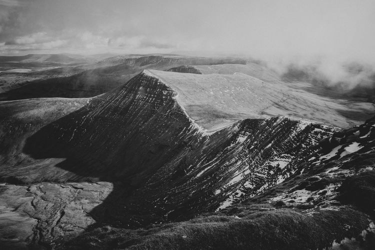 Brecon Beacons b/w Black & White Brecon Beacons Blackandwhite Geology Landscape Moody Mountain Mountains Nature Outdoors Physical Geography Scenics The Great Outdoors - 2018 EyeEm Awards Summer Road Tripping The Traveler - 2018 EyeEm Awards My Best Photo