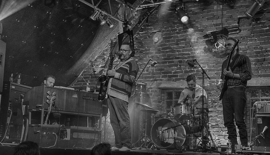 AdHd from Iceland in Concert (b&w) Event Jazz Concert Panorama Foto Adult Architecture Blackandwhite Photography Built Structure Concert Concert Photography Day Jazz Music Jazz Musicians Leisure Activity Men Musicians People Real People Standing Togetherness