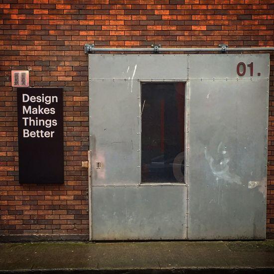 Streets of Dublin Brick Wall Western Script Built Structure Door No People Dublin Road Street