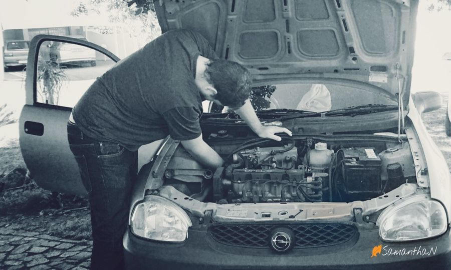 Taking Photos Car Engine Repair Oldstyle Blackandwhite Photography SpurOfTheMoment Love To Take Photos ❤