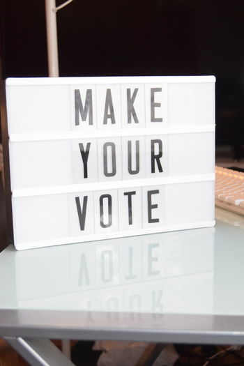 Close-up Communication Day Indoors  Magazine Make Your Vote Message Board No People Text Trend Voting