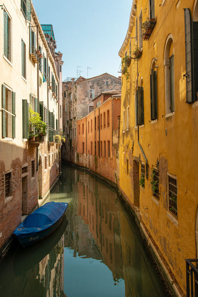 A small canal in Venice ... Architecture Building Canal City Day Nature No People Outdoors Reflection Residential District Sky Sunlight Transportation Water Waterfront Window