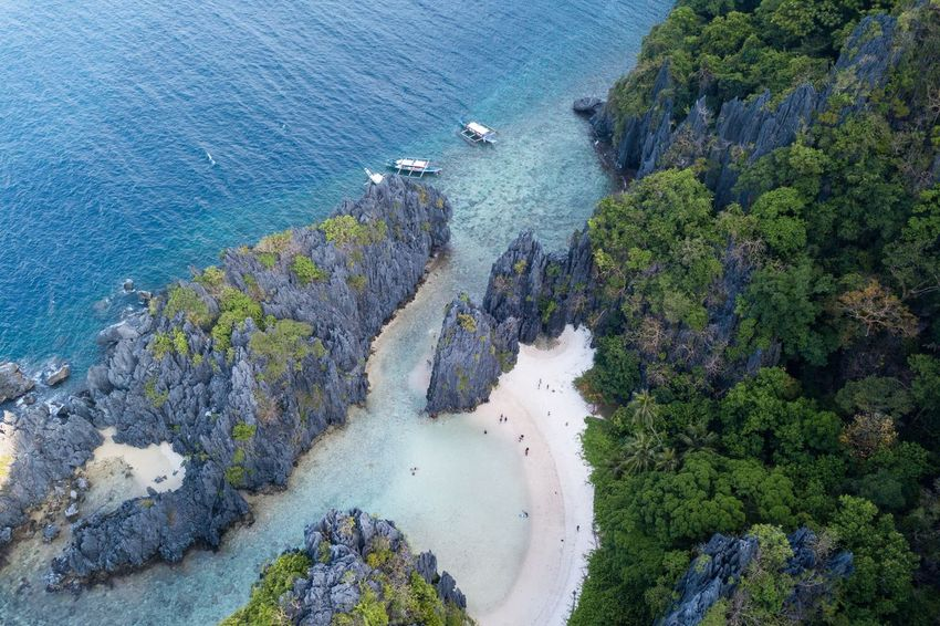 Water High Angle View Sea Nature Nautical Vessel Beauty In Nature Day Transportation Beach Plant Scenics - Nature Rock Mode Of Transportation Land Rock - Object Solid Outdoors