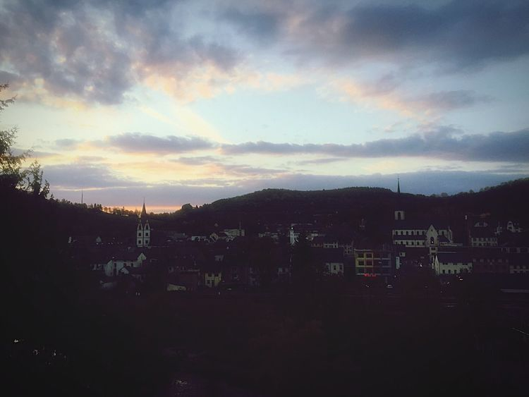 Sky Cloud - Sky No People Nature Outdoors Beauty In Nature Mountain Tree Sunset Day City Krn Love ♥ First Eyeem Photo