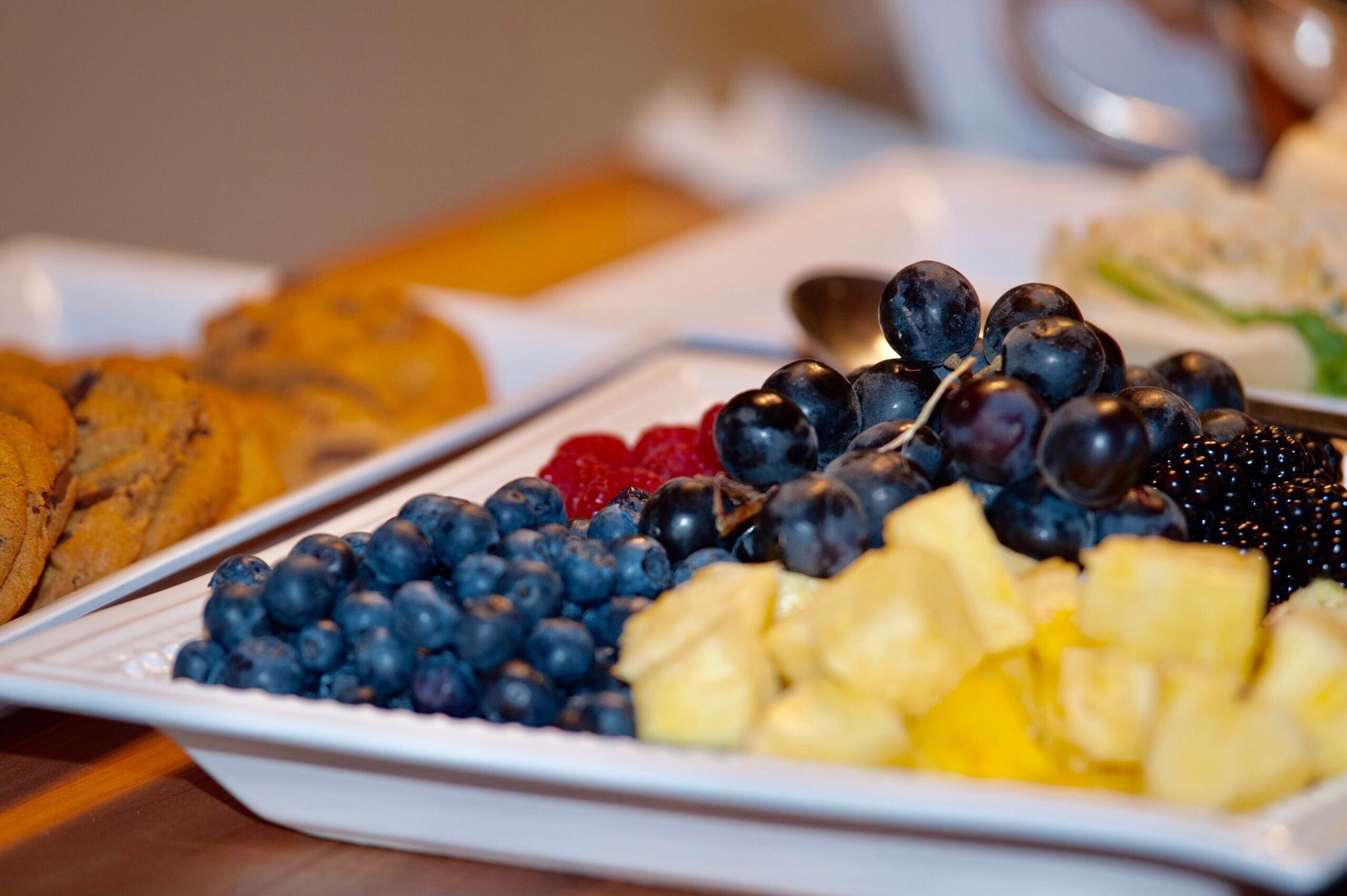 food and drink, food, fruit, blueberry, freshness, blackberry, still life, table, no people, indoors, close-up, healthy eating, sweet food, plate, dessert, ready-to-eat, tart - dessert, day