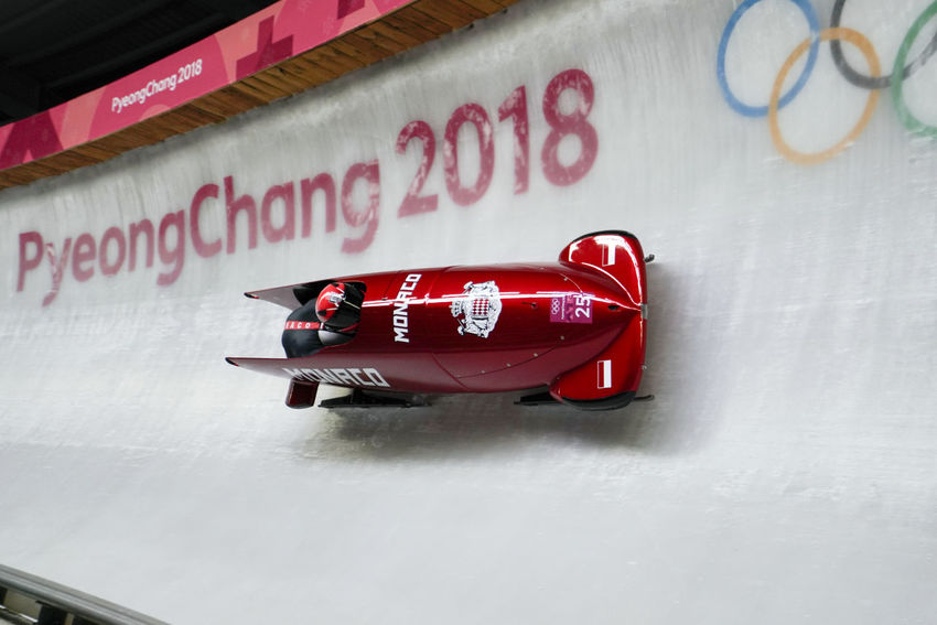 2-man Bobsleigh Heat 1 at alpensia sliding centre in pyeongchang2018 winter olympic games 2-man Bobsleigh 2-man's Bobsleigh 2-men Bobsleigh 2-men's Bobsleigh Bobsled Monaco Olympic Olympics Sled Sledge Sleigh Winter Winter Sport Alpensia Sliding Center Alpensia Sliding Centre Bobsleigh Night Olympic Games Olympic Sliding Center Olympic Sliding Centre Olympicgames Pyeongchang Olympic Games Pyeongchang2018 Sport Winter Sports