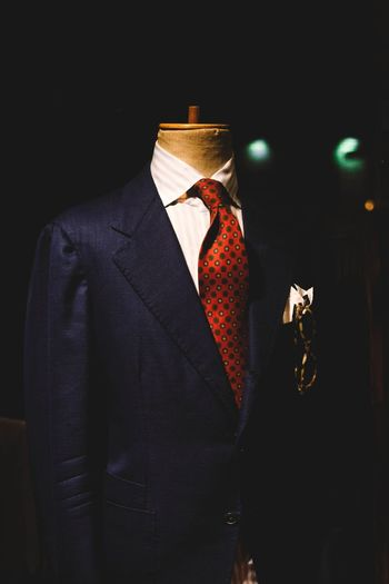 Mannequin With Suit In Clothing Store