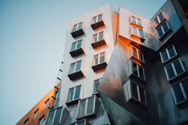 Apartment Architecture Balcony Building Exterior Built Structure City Day Low Angle View Mit Modern No People Outdoors Residential  Residential Building Sky Stata Center Window