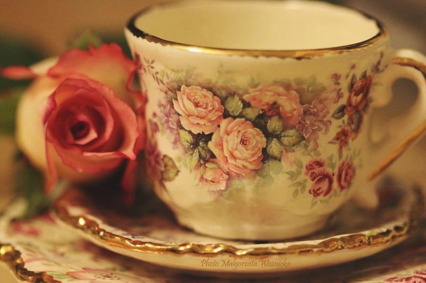 Flower Indoors  Rose - Flower Food And Drink No People Table Saucer