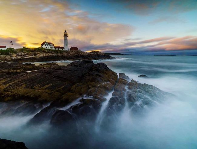 Nature Sea Water Lighthouses