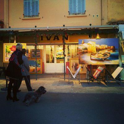 Sainttropez Provence Méditerranée Sunset harbour painting painter shop
