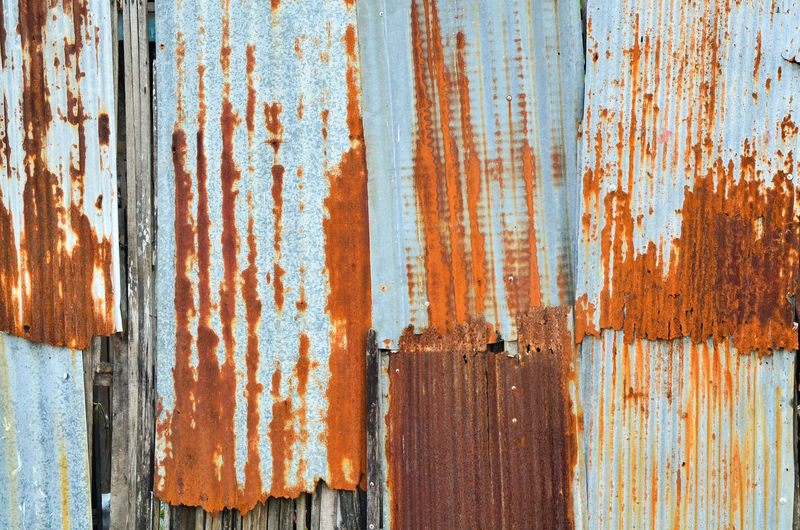Bad Condition Brown Corrugated Corrugated Iron Damaged Decline Deterioration Full Frame Iron Metal No People Obsolete Old Pattern Ruined Run-down Rustic Rusty Sheet Metal Textured  Weathered Wood - Material Wood Grain