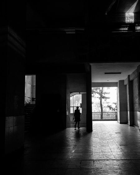 The Minimalist - 2019 EyeEm Awards Full Length City Men Walking Leaving Corridor Architecture Built Structure The Mobile Photographer - 2019 EyeEm Awards