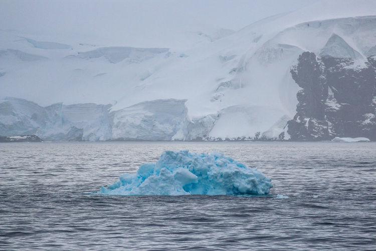 Scenic view of frozen sea