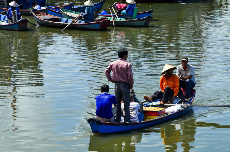 Ferryman Adult Boat Day Ferryman Foot Gondola - Traditional Boat Guest Leisure Activity Men Mode Of Transport Nautical Vessel Outdoors People Transportation Vung Tau, Viet Nam Water
