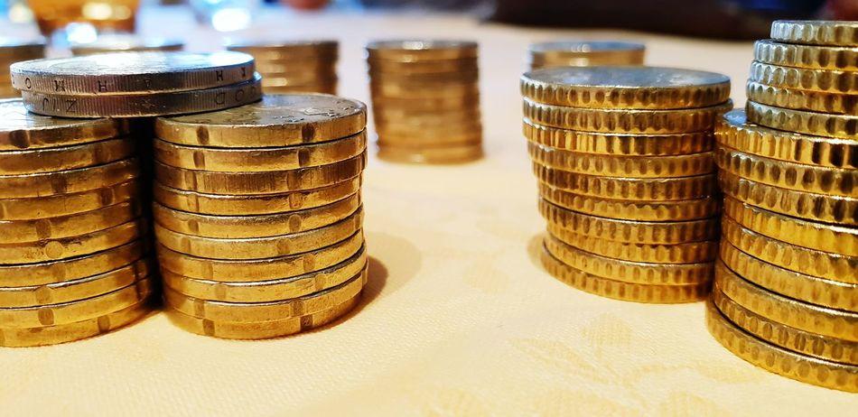 Coins, monete Monete Coin Coins Collect Collection Samsungphotography S9 Luca Riva Euro Euros 50cent 2euro Gold Colored Close-up