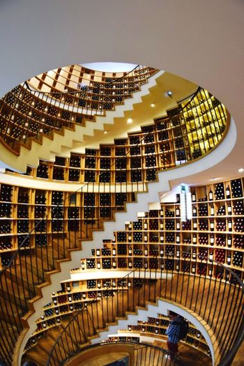 Like a ? Bordeaux Wine Stairs Staircase Spiral Staircase Fisheye 8mm